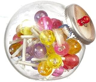 Dolls House Full Glass Lollipop Jar Miniature Shop Store Accessory