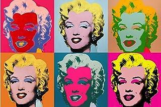 Pintar por numeros Adultos Andy Warhol – Marilyn Monroe – Cuadros para Pintar por números con Pinceles y Colores Brillante...
