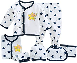 Baywell Newborns Baby Outfit Set 7 Pcs, Infant Unisex Clothes Gift Box Full Moon Gift