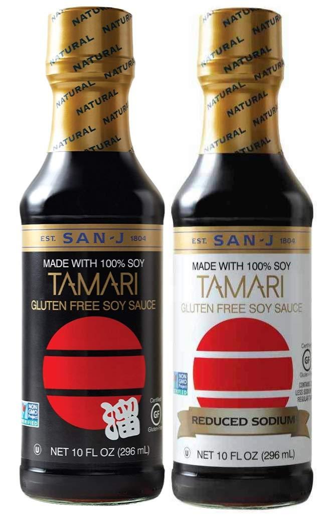San-J Tamari National uniform free shipping Soy Sauce and Reduced 10oz Chicago Mall Bo One Sodium sauce