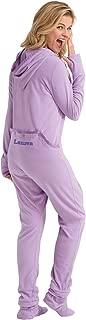 Womens Onesie Fleece Pajamas - Drop Seat Pajamas Women, Lavender