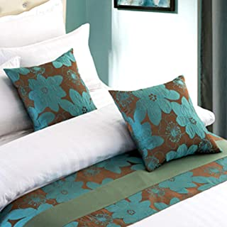 Twelve 2pcs Pillowcase Throw Pillow Cover Square Pillow Case for Hotel Bed Sofa Decor Blue Floral