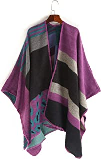 Women's Leopard Stripe Print Scarf Warm Cashmere Cheetah Shawls Pashmina Wrap Ladies