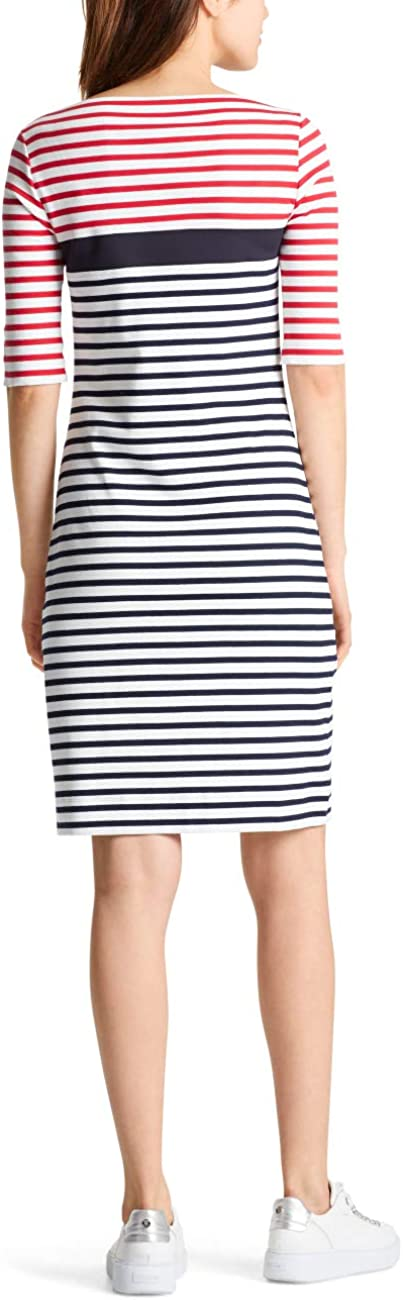 Marc Cain Sports Casual Kleider Robe Femme Multicolore (Midnight Blue 395)