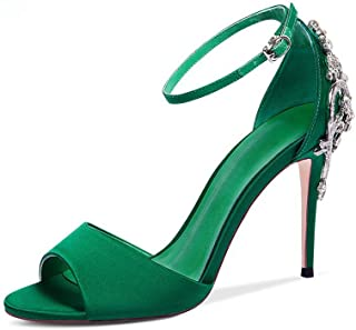 cb0c14e066 Amazon.it: Scarpe Con Tacco Verde: Scarpe e borse
