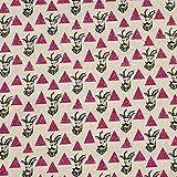 Kokka Canvas Impala pink 110 cm - Baumwolle/Leinen -