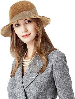 قبعة DOCILA Cloche للنساء الأنيقة في فصل الشتاء من مزيج الصوف للحفلات كنيسة زي قبعة في الهواء الطلق قبعة صياد السمك