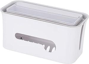 Organizador de fios Homyl Cable Management Box design separado economiza espaço deixa espaço mais arrumado – Branco