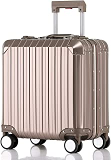 Luggage Carry On Baggage with 360° Spinner Wheels Hardshell Lightweight Suitcase with Password Lock Durable Trolley Case Boarding The Chassis for Men and Women International Travel,Gold,18inches