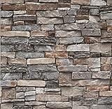 Peel and Stick Wallpaper 3D Stone Brick Stick...