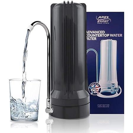 APEX MR-1030 GAC, Calcite & KDF-55 Countertop Water Filter (Desert Sky Black)