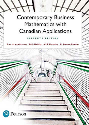 Contemporary Business Mathematics with Canadian Applications - Original PDF