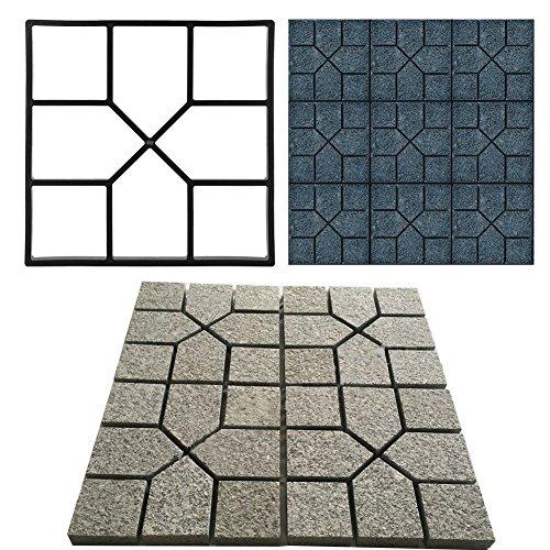 GOTOTOP Schwarze Bodenplatte Betonform Trittstein Garten Rasen Weg Bodenherstellung Gehweg Weg Maker Form 40 x 40 cm