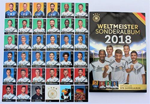 Rewe WM 2018 DFB - Russia Russland Sammelkarten - KOMPLETT alle 36 verschiedene NORMALE Karten + dazugehörige ALBUM- Neu + OVP