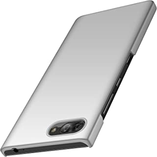 BlackBerry Key2 LE Case, Almiao [Ultra-Thin] Minimalist Slim Protective Phone Case Back Cover for BlackBerry Key2 LE (Smooth Silver)