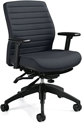 Aspen Fabric Medium Back Multi-Tilter Task Chair Dimensions: 25