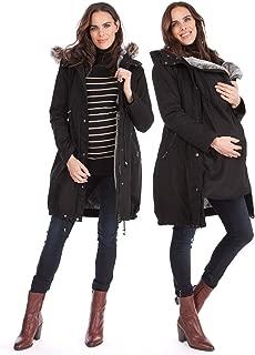 Women's 3 in 1 Winter Maternity Parka Jacket Faux Fur Lined