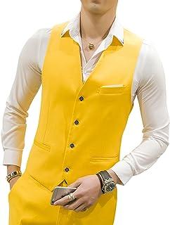 MOGU Gilet da Uomo Causale Suit Gilet 15 Colori