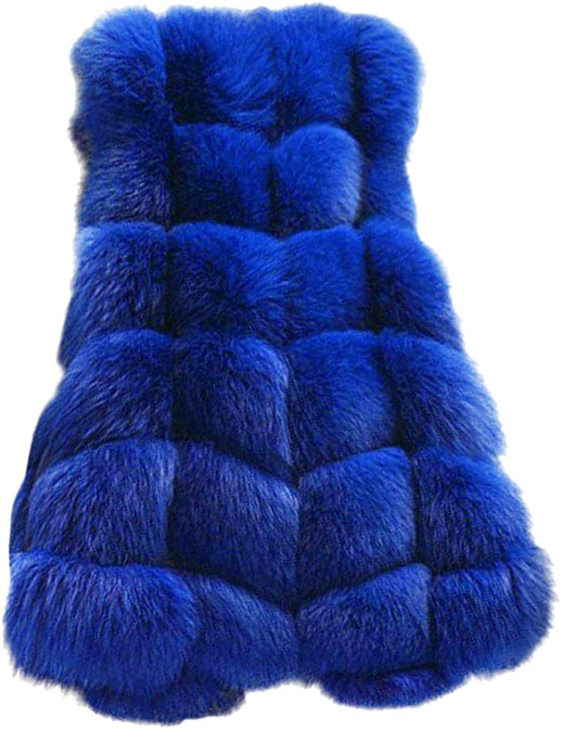 Womens Faux Fur Vest Sleeveless Over item handling Winter Comfy Body Product Waistcoat Warm