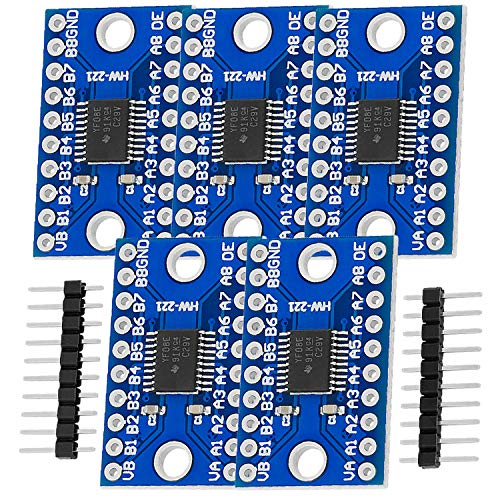 AZDelivery 5 x TXS0108E Logic Level Converter 8 Kanal kompatibel mit Arduino und Raspberry Pi