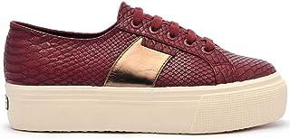 Superga Women's S00CJZ0A77 Burgundy Polyamide Sneakers