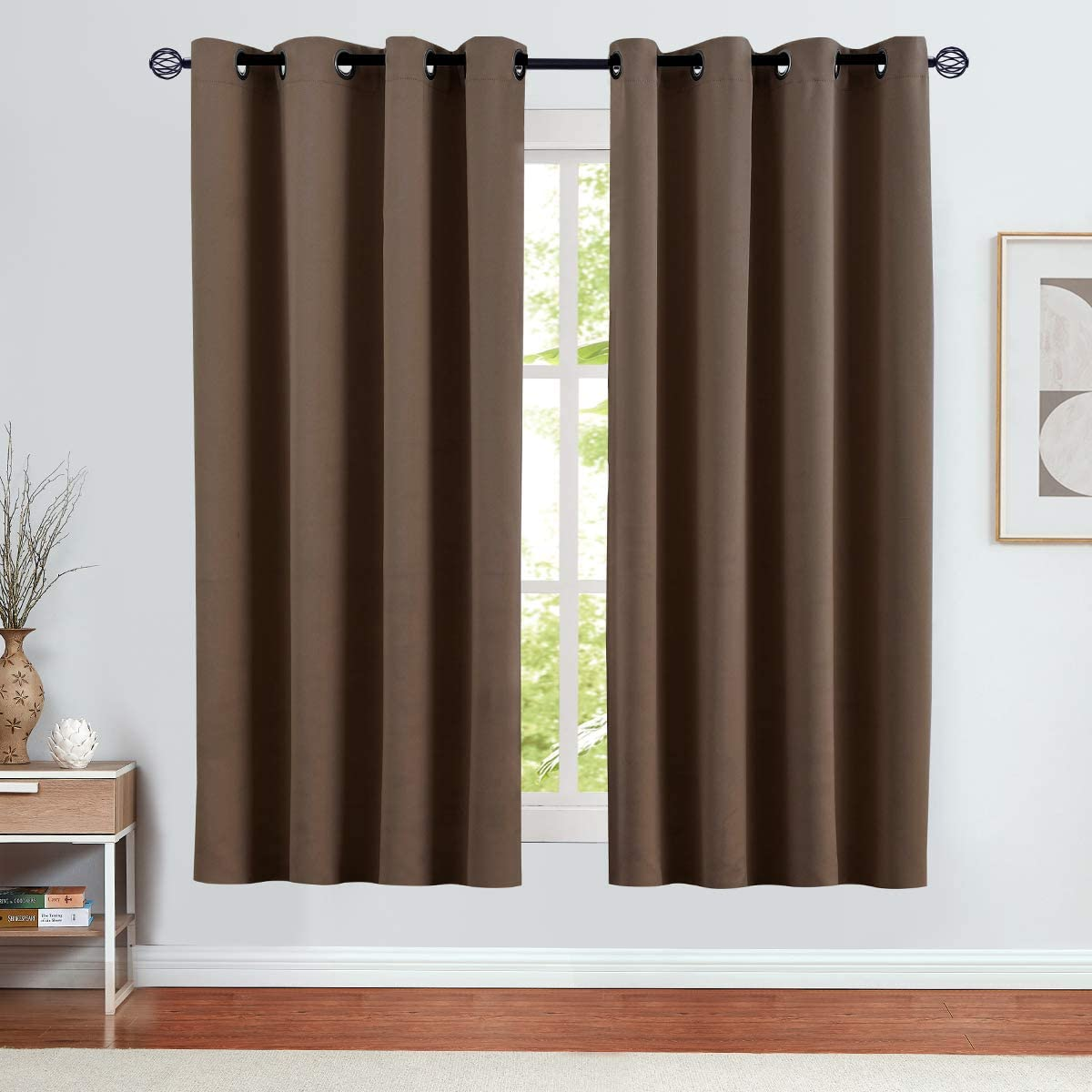 Vangao Room Darkening Curtains 63 Treatment inches Sale special Sale item price Window Length
