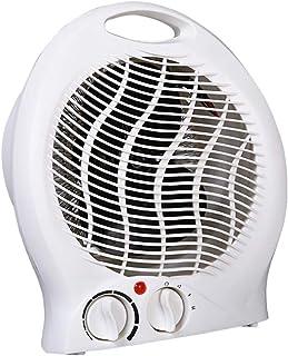 Calefactor Eléctrica Calefactor Espacio Personal Calentador rápido Seguro Ahorro de energía Escritorio Mute Mini Blanco 2000W