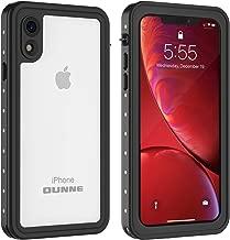 OUNNE iPhone XR Waterproof Case, Full Sealed Underwater Cover IP68 Certified Dustproof Snowproof Shockproof Waterproof Phone Case for iPhone XR (Clear)