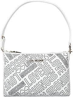 Love Moschino Embossed Logo Mujer Handbag Blanco