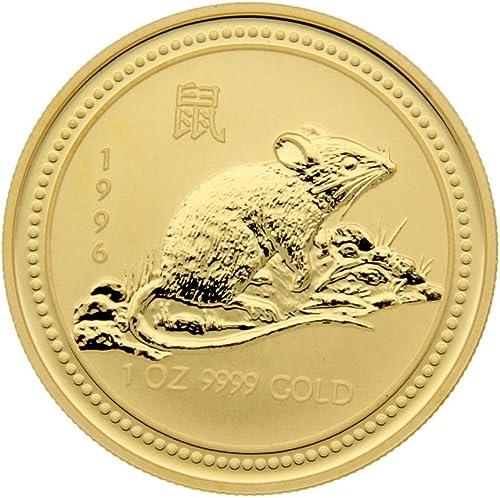 1 oz Goldmünze Australien 1996 - Lunar Serie I  Year of the Rat  (Ratte)