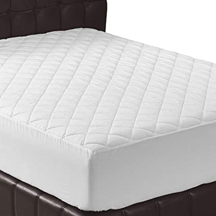 Utopia Bedding Quilted Fitted Mattress Pad (Queen) - Mattress Cover Stretches up to 16 Inches Deep - Mattress Topper