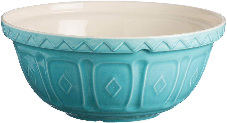 Mason Cash Earthenware Mixing Bowl, S12, 11-1 2-Inches, 4-1 4-Quarts, Turquoise