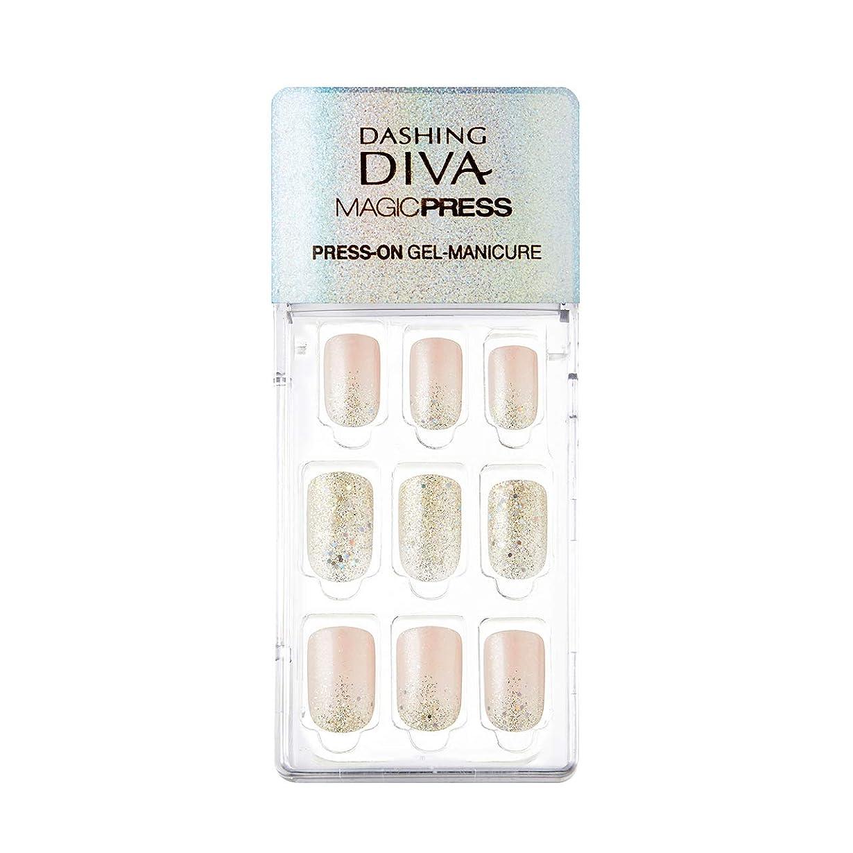 上流の医薬下にダッシングディバ マジックプレス DASHING DIVA MagicPress MDR209-DURY+ オリジナルジェル ネイルチップ Golden Mist