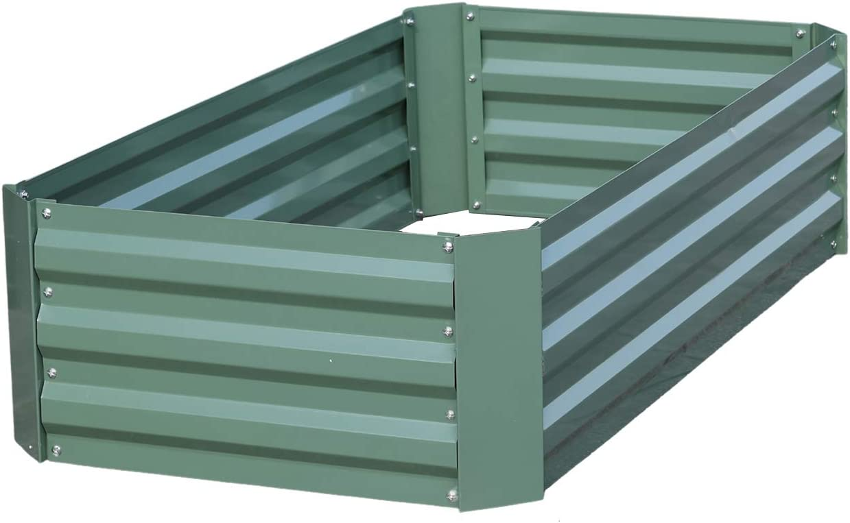 Aoodor Raised Garden Bed 4' x 2' x 1' for Patio Ourdoor Yard
