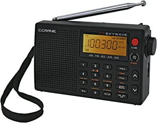 Best C Crane CC Skywave AM, FM, Shortwave, Weather and Airband Portable Travel Radio with Clock and Alarm Reviews