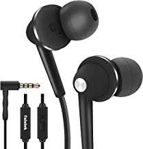 FALATEK Chloeinear Earbuds with Mic, Noise Isolating, Bass Driven, in Ear Headphones, Tangle-Free, Replaceable Earbuds for iPhone, Android,MP3 Players,Tablets and All 3.5mm Audio Jack (Black)