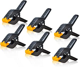 6 Pack Heavy Duty Spring Clamps Clip 4.5 InchBlack Backdrop Clamps for Nylon Muslin Paper Photo Background, Reflectors and...