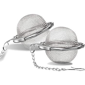 ARKTEK Filtros para té, Acero Inoxidable, Pack de 2, 4.5 cm