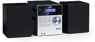 auna MC-20 DAB Plus - Minicadena, Equipo estéreo hi-fi, 2 vías, Potencia salida: 2 x 5W, Bluetooth, Pantalla LCD, Sintoniz...