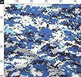 Blau, Tarnfarbe, Digital Stoffe - Individuell Bedruckt von
