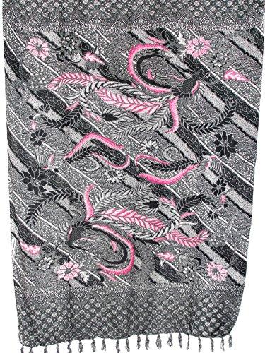 Pareo Sarong bunt farbig Blumen Gecko Modelle/große Auswahl schönste Farben/Wickelrock Strandtuch Sauna-Tuch Wickelkleid Schal Bademode Freizeitmode Sommermode/aus 100% Viskose