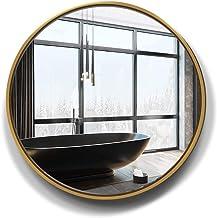 Circle Wall Mirror Large Round Golden HD Silver Mirror for Wall Decor Bathroom Entryway Bedroom Makeup Vanity Mirror 50/6...