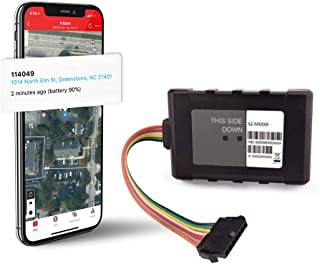 Logistimatics Hardwired 4G LTE Tracker for Vehicles, Trucks, Motorcycles, Equipment with 30-Second Reporting and Battery B...
