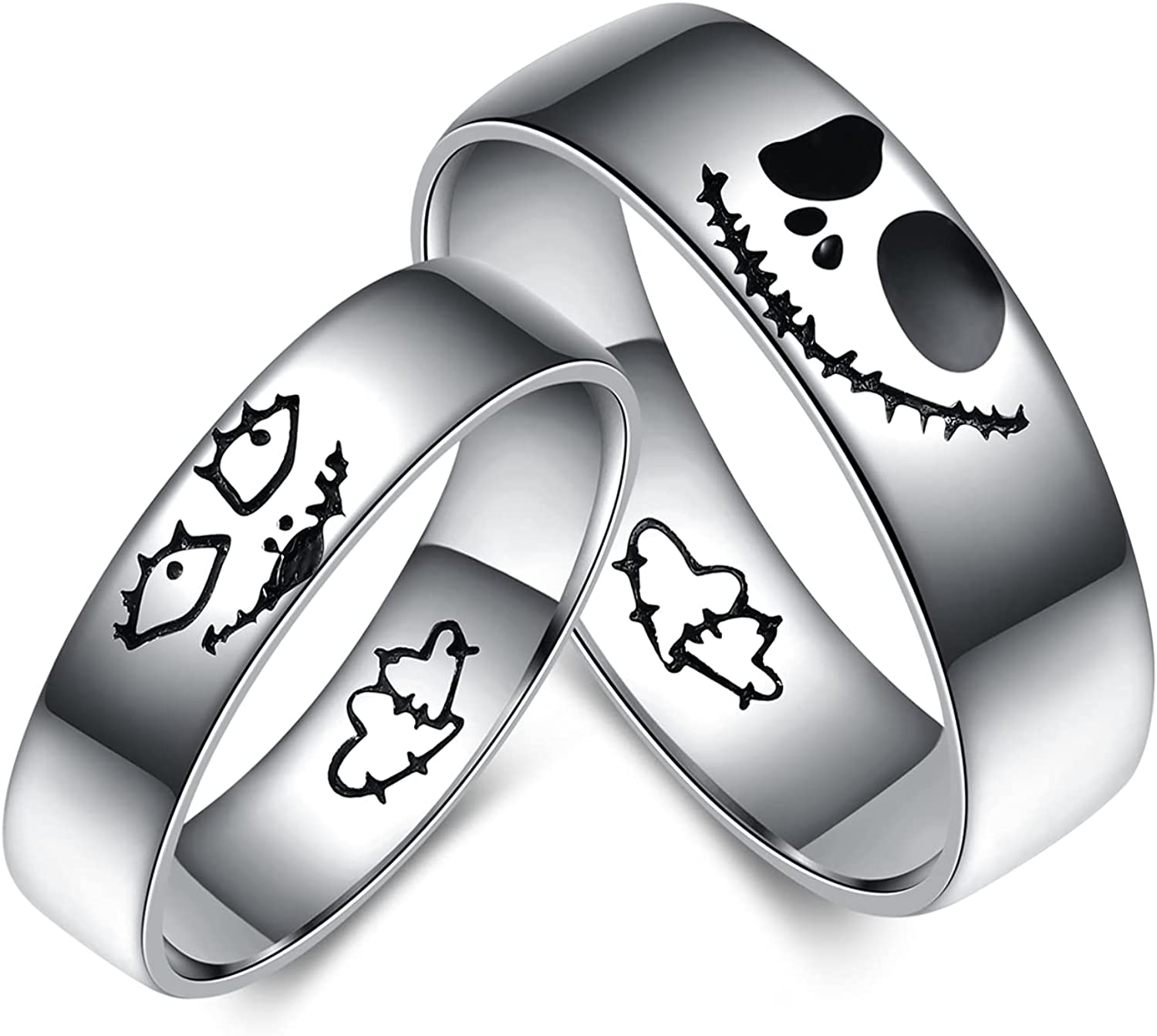 YFN Jack Skellington Ring Sterling Before Animer and price Max 90% OFF revision Nightmare Silver Chris