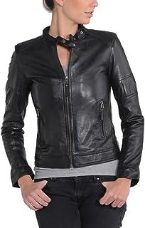 Women's Lambskin Leather Bomber Biker Jacket - Winter...