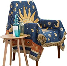 amorus 50 X 70 Inches Multi-Function Throw Blanket for Sofa Bed Chair Super Soft Lightweight (Sun Moon Stars)