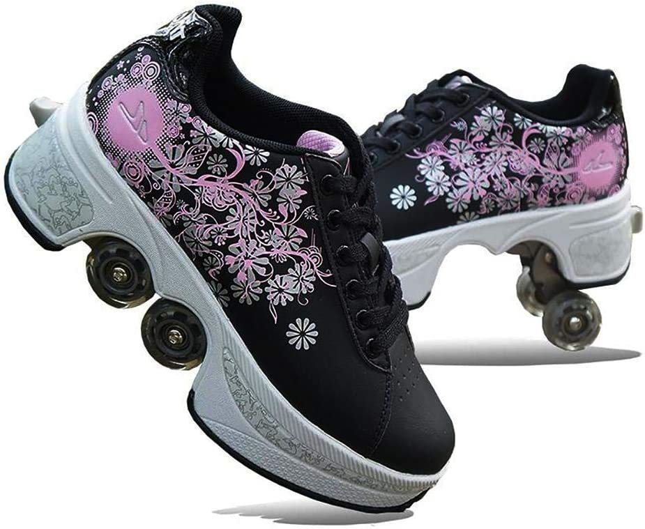 MGIZLJJ Adjustable 2-in-1 Multi-Purpose Roller Shoes specialty shop Max 64% OFF Gi for Kids