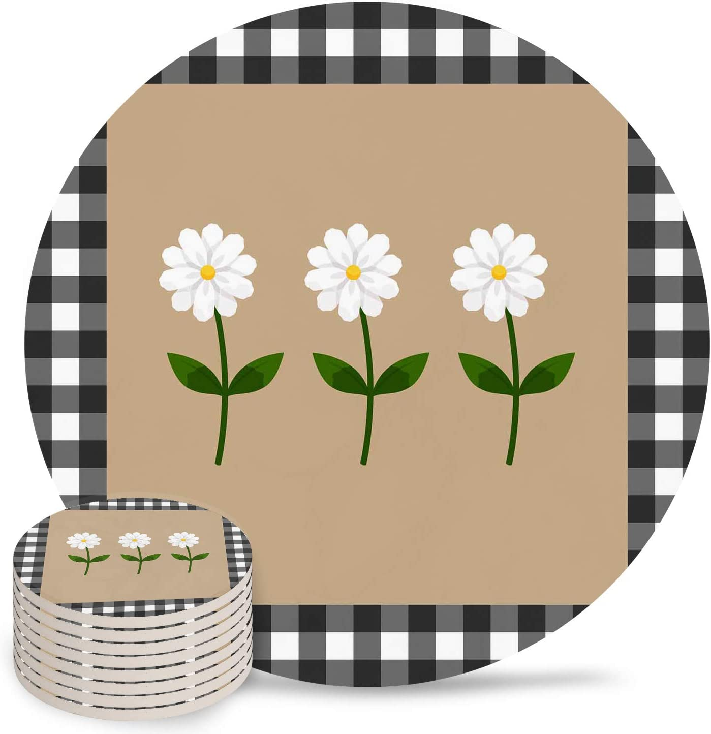 latest Floral Coasters for Ranking TOP18 Drink 4 Inch Pad Dri Ceramic Absorbent Cup