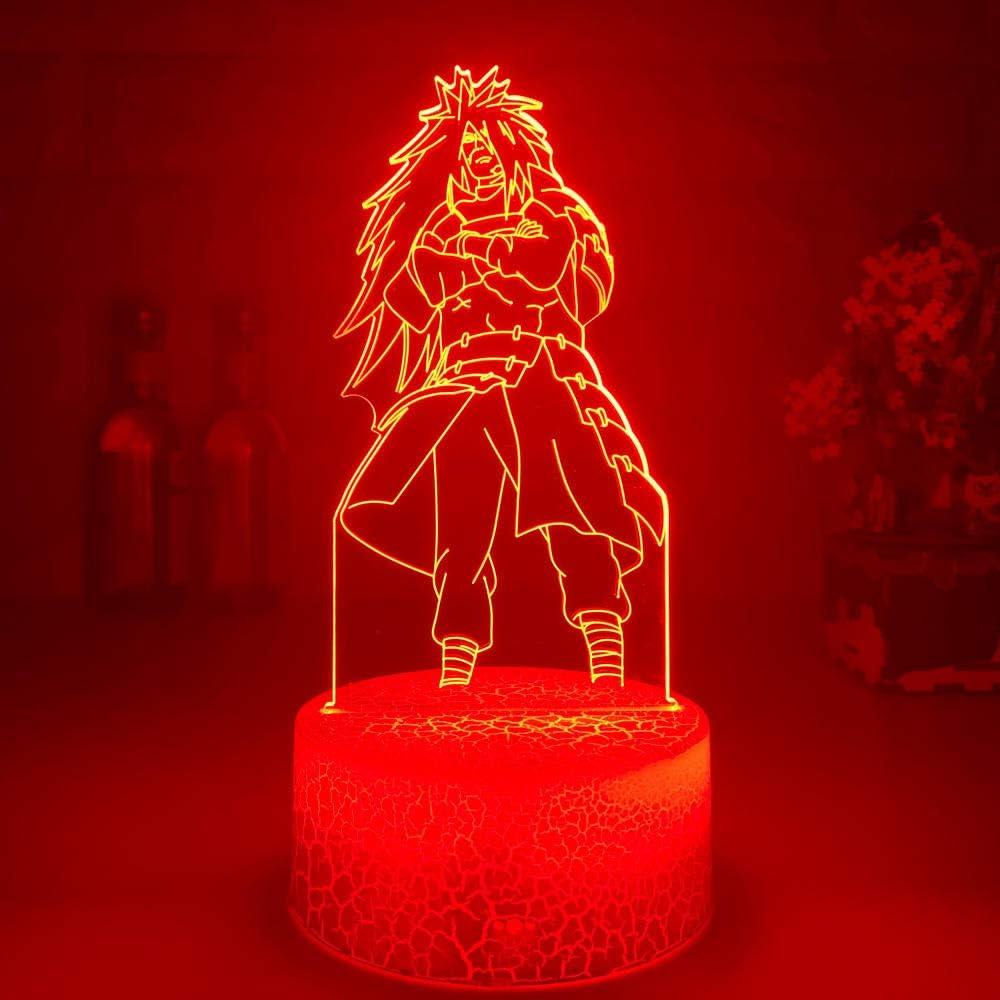Selling rankings 3D Anime Night Light for Baby supreme Madara Uchiha Optical