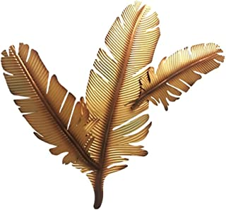 TAQUA Metal Wall Art Sculpture, Wall-Mounted 3 Gold Leaf Integrated Welding Crafts for Indoor and Outdoor Wall Decoration